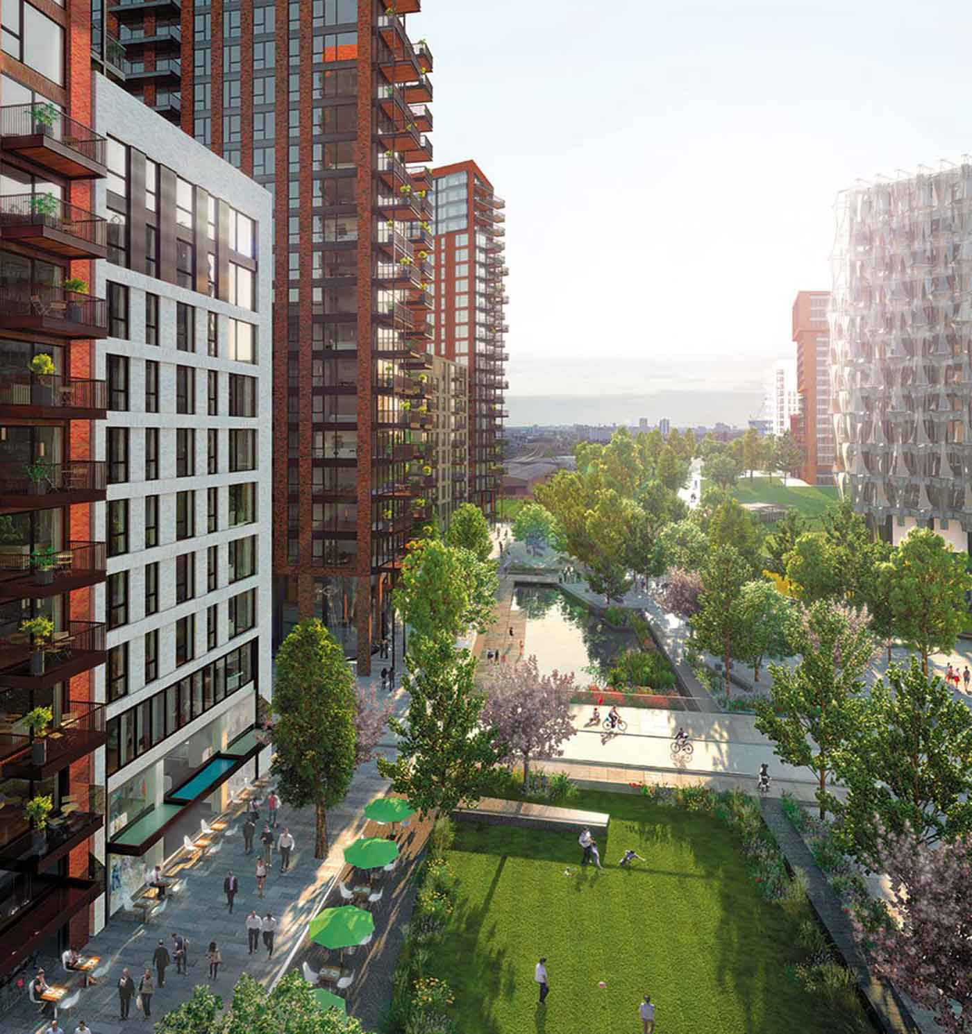 Embassy Park Apartments: Embassy Gardens Development, London